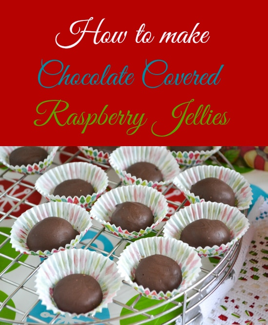 Homemade Old Fashioned Raspberry Jellies Candy recipe is a great homemade Christmas gift.
