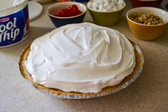 Banana Split Pie recipe, Jello pudding recipes, easy dessert recipes, #KraftEssentials, Kraft products, dessert recipe, #shop