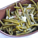 crock pot green beans, easy green beans, progressive dinner, green bean recipe