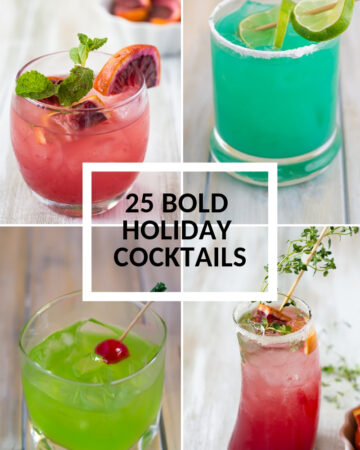 collage image 25 Bold and Delicious Holiday Cocktail Recipes