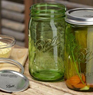 Ball Heritage Green Jars,
