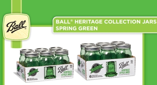 Ball Heritage Jars, Green Heritage Jars, Ball Heritage Jars Giveaway