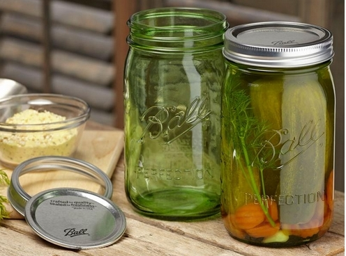 Ball Green Heritage Canning Jars