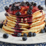 Buttermilk Pancakes with Homemade Blueberry Syrup