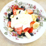 Easy Mixed Fruit Salad with Sweetened Creme Fraiche
