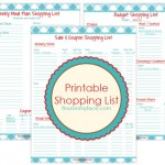 3 FREE Printables Weekly Meal Planning, Sale and Shopping List & Budget Shopping List