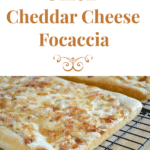Onion Cheddar Cheese Focaccia  #SundaySupper