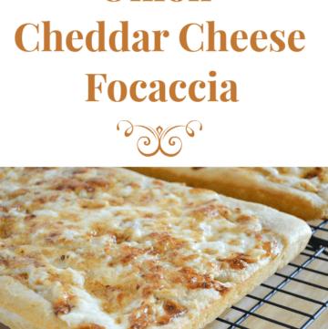 Onion Cheddar Cheese Focaccia Appetizer recipe