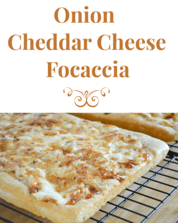 Onion Cheddar Cheese Focaccia Appetizer recipe