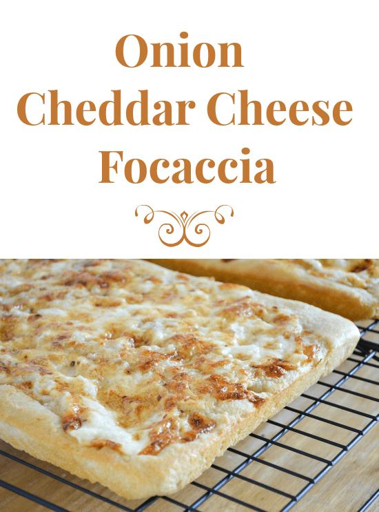 Onion Cheddar Cheese Focaccia  #SundaySupper