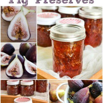 Homemade Fig Preserves, Fig Preserves, Fig Jam, Fig Jam Recipe, Homemade Fig Jam, canning recipes, jam recipe, brown turkey figs via flouronmyface.com