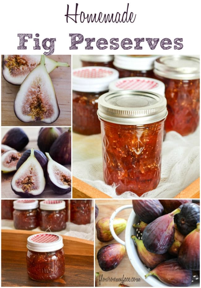 Homemade Fig Preserves recipe via flouronmyface.com