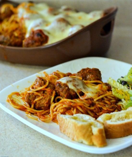 baked spaghetti recipe, meatball recipe
