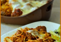 Baked Spaghetti Recipe, Baked Spaghetti Meatballs, HOmemade Meatball Recipe, Easy Baked Spaghetti, Easy Meatballs, Family Recipes