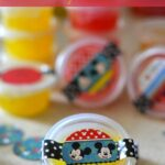 DIY Party Favors, DIY Glitter Goo, Kids Party Ideas, Kid party favors, mickey mouse party favors, diy disney party,