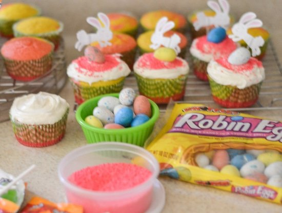 Easter Cupcakes, HERSHEY'S Robin Eggs, Easy Cupcakes