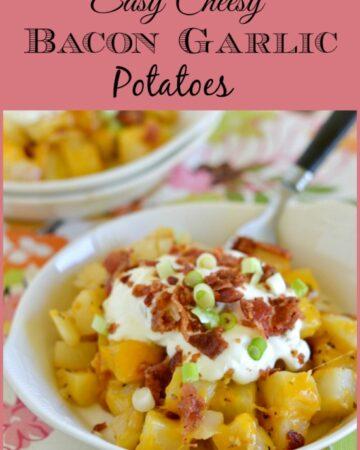 easy cheesy potatoes, easy cheesy bacon garlic potatoes recipe, Simply Potatoes recipe