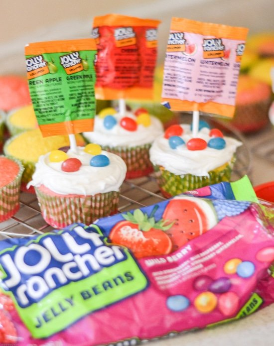 JOLLY RANCHER Cupcakes, Easter Cupcakes, Easy Easter Cupcakes
