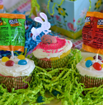 Easter Candy Cupcakes, Easy Easter Cupcakes , HERSHEY'S Easter, #BunnyTRail