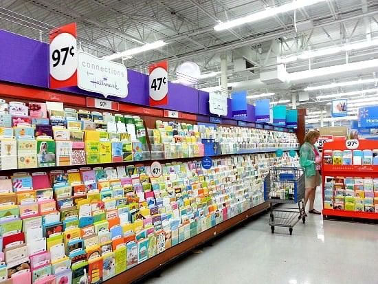 Hallmark Value Cards, Walmart, DIY Cards Station