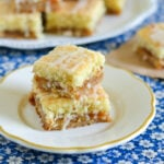 peach jam bars, almond jam bars, almond jam bars recipe