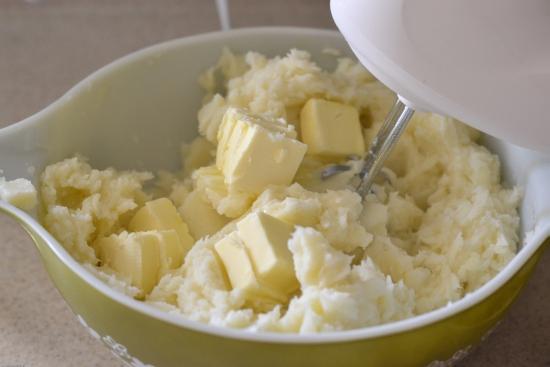 roasted garlic, mashed potatoes