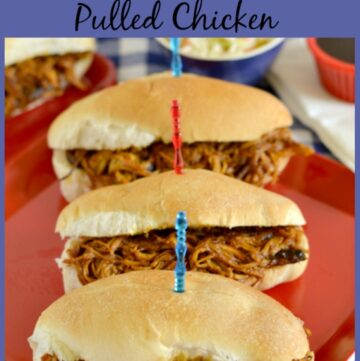 Easy Crock Pot Pulled Chicken is one of my favorite crock pot recipes via flouronmyface.com