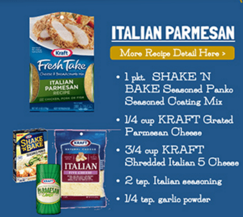 Kraft Fresh Take Copycat recipes are available at Kraft.com