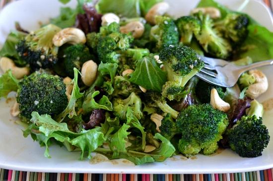 Roasted Broccoli Salad, Roasted Broccoli, Salad recipes, Healthy Salad recipes, Pompeian Olive oil, Pompeian