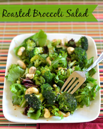roasted broccoli salad, roasted broccoli, balsamic vinaigrette dressing, salad ideas, healthy lunch options