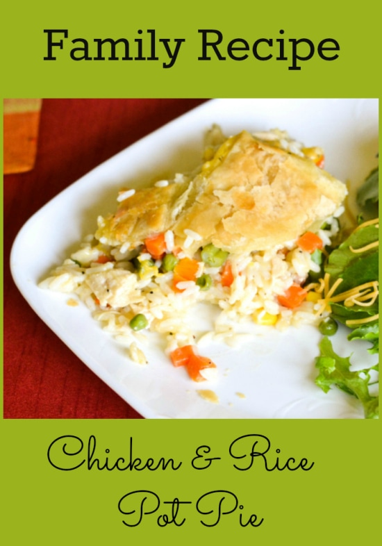 Easy Chicken and rice pot pie recipe,easy family recipes, Uncle Bens Rice recipes, easy chicken recipes,