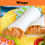 Easy Crock Pot Pulled Buffalo Chicken Wraps