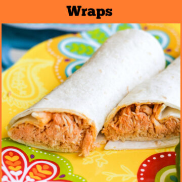 easy family recipes, crock pot recipes, slow cooker, easy crock pot pulled buffalo chicken wraps