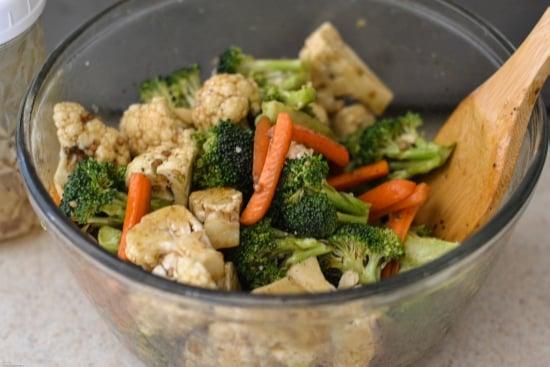 Roasted vegetables, balsamic vinegar, Pompeian Olive Oil recipes