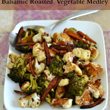 Balsamic Roasted Vegetable Medley, Pompeian, Roasted Vegetables,