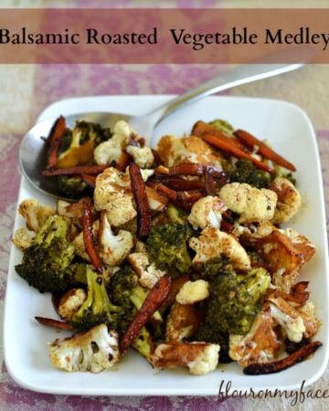 Balsamic Roasted Vegetable Medley, Pompeian, Roasted Vegetables,