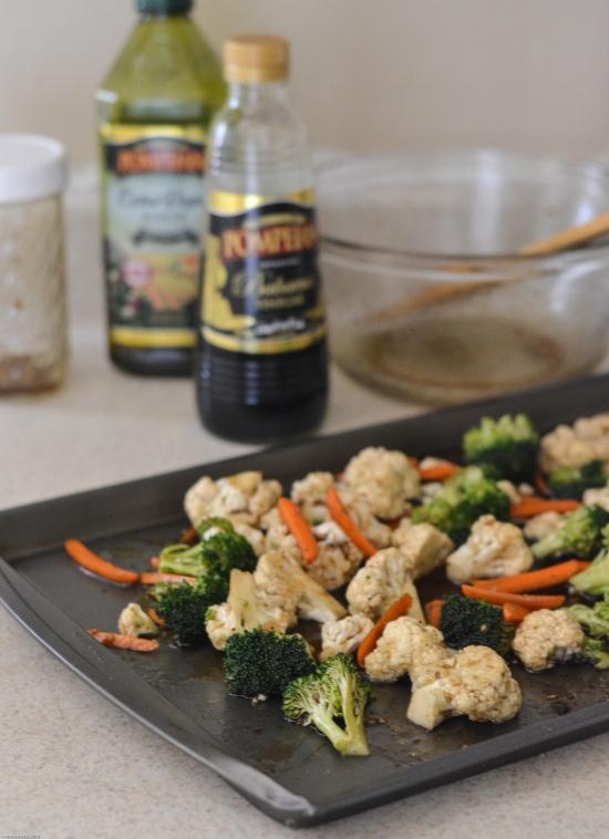 Balsamic Roasted Vegetable Medley, Pompeian Olive Oil, Pompeian Balsamic Vinegar