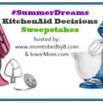 KitchenAid Artisan Design Collection Stand Mixer Giveaway #SummerDreams