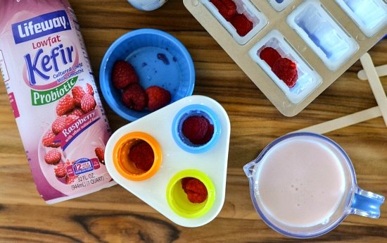 #shop, Lifeway Kefir Ice Pops, Raspberry Kefir recipe, kefir ice pops, probiotic ice pops