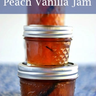peach jam, easy peach vanilla jam, Ball Jam maker recipe, peach recipes, vanilla recipes