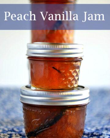 peach jam, easy peach vanilla jam, Ball Jam maker recipe, peach recipes, vanilla recipes