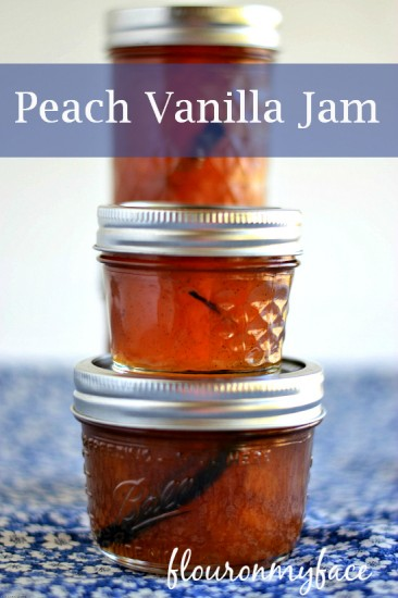 Peach Vanilla Jam-Flour On My Face