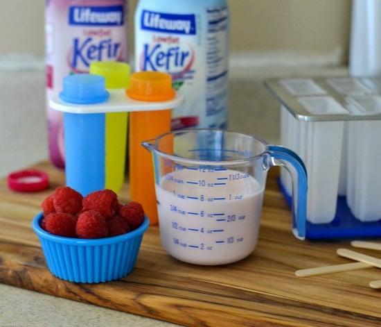 #shop, raspberry kefir, #KefirCreations , kefir recipes, ice pop recipes, healthy ice pop recipes