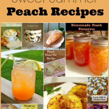 Peach Recipes, Summer Peach Recipes, Peaches, Fresh Peach recipes