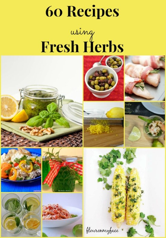 60 recipes using fresh herbs, fresh herbs, recipes using herbs, rosemary recipes, basil recipes,