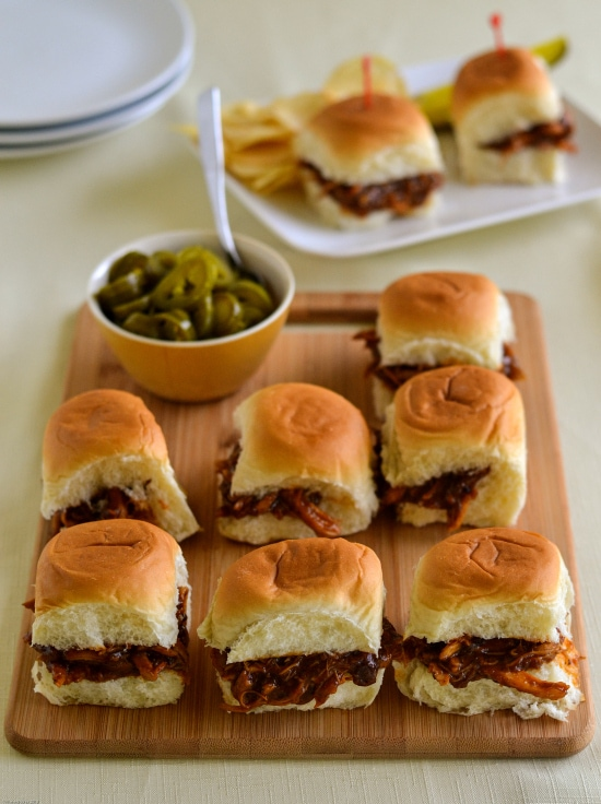 tailgating recipes, easy tailgating sliders, BBQ Chicken SLiders, Chipotle Chicken SLiders, football food