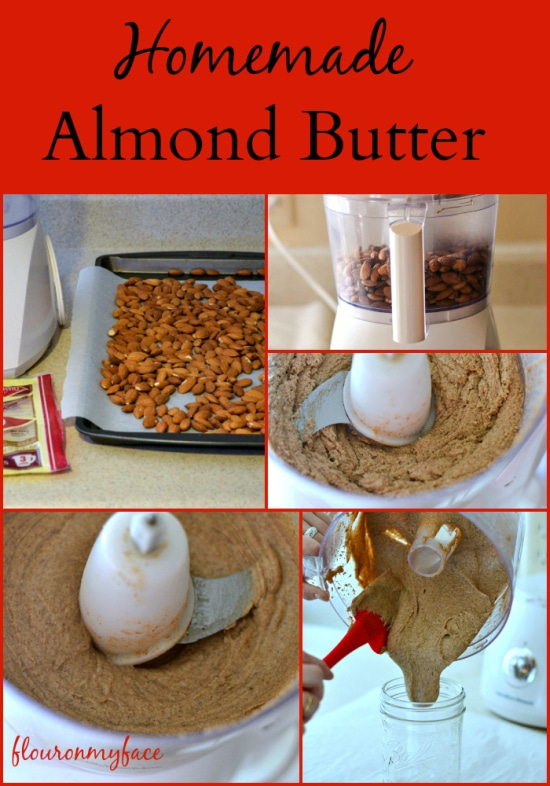 Step by Step instructions with photos on how to make Homemade Almond Butter via flouronmyface.com