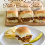 Easy BBQ Chipotle Pulled Chicken Sliders #FallKickoff @FarberwareCook