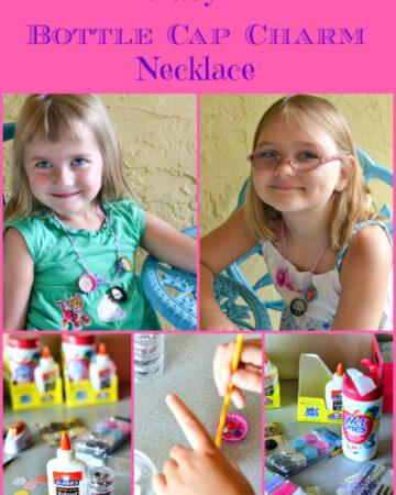 easy bottle cap charm necklace