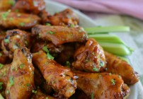 Honey BBQ Chicken Wings, Tailgating at home, Red Baron